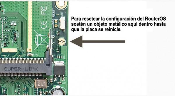Como resetear manualmente el password de tu router Mikrotik